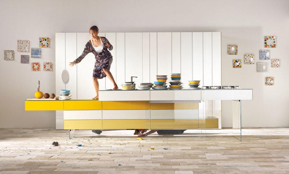 Yellow-White-Kitchen