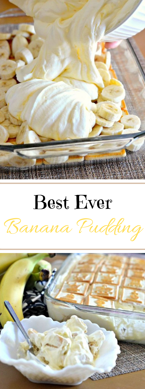 Best Ever Banana Pudding #desserts #pudding