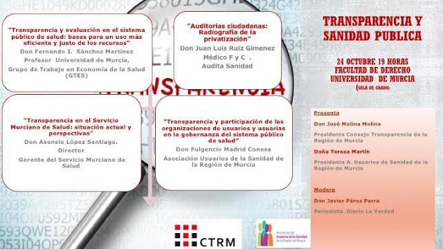 """Jornada: """"Transparencia y Sanidad Pública"""""""