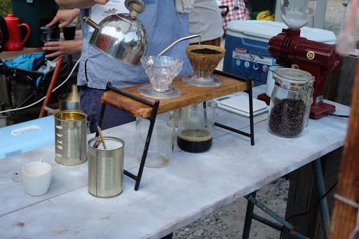 長野市善光寺びんずる市 ヤマとカワ珈琲店 ドリップコーヒー