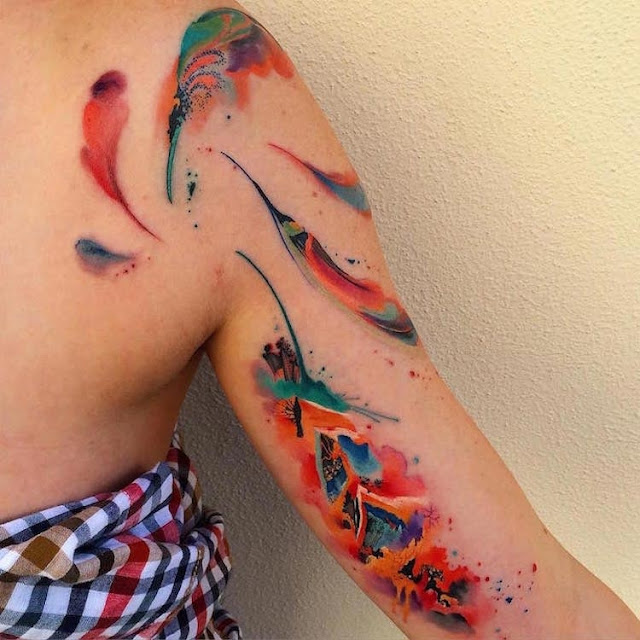 25 + Inspiring Watercolor Tattoos Designs Which Are Added The Beautyness