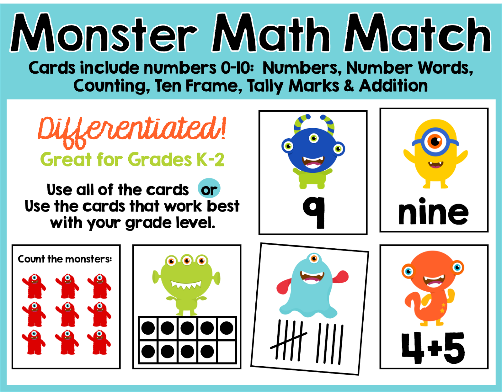 Working On My Next Follower Freebie Monster Math Match