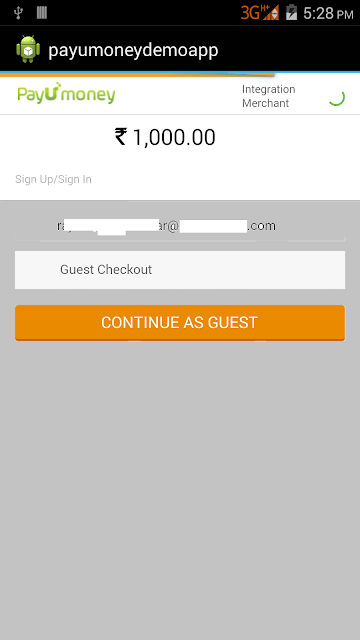 Payumoney Payment Gateway Integration Android Tutorial