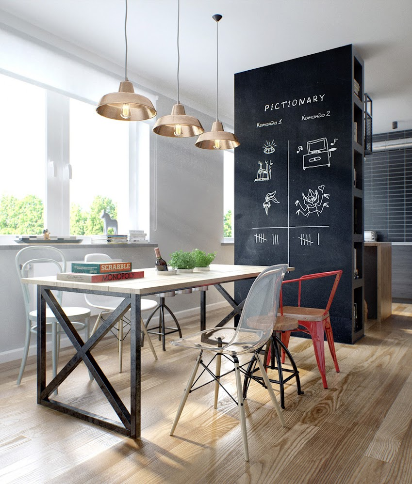 eclectic-industrial-dining-room-chairs