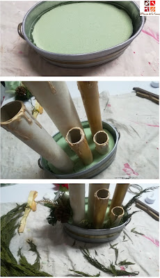 como imitar velas con tubos de cartón
