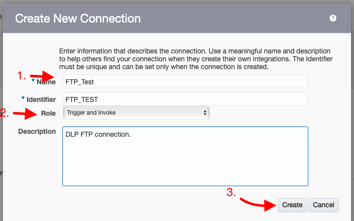Basics of OIC: How to configure FTP Connection in OIC