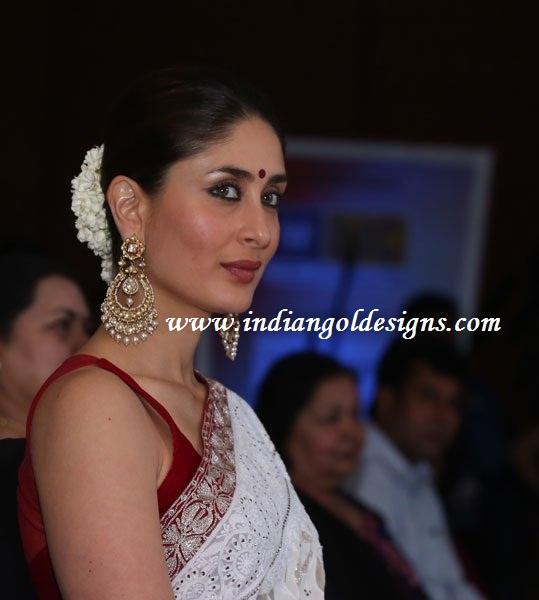 Checkout Kareena Kapoor In Huge Uncut Diamond Earrings