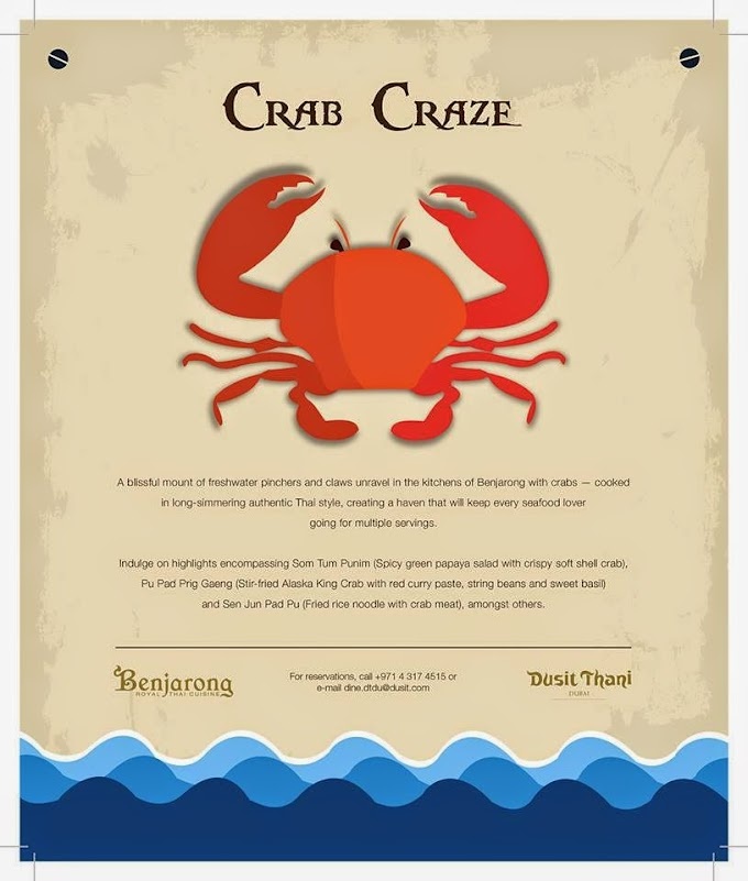 You'll love Crab Craze at Benjarong, Dusit Thani Dubai