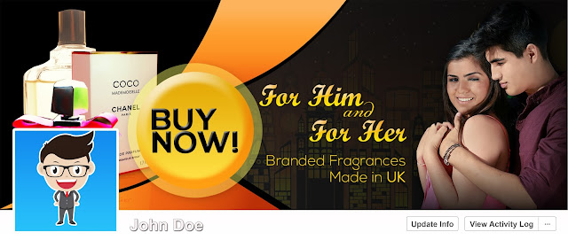 Facebook Cover Design for Perfume Online Shop