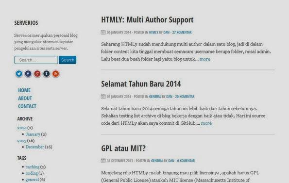 HTMLy flat-file blogging software