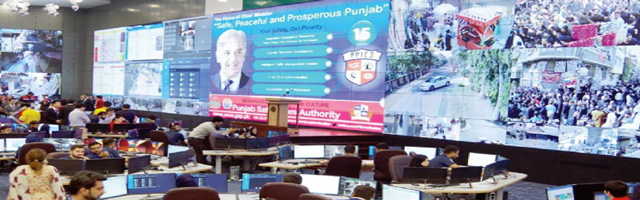 Lahore safe city cctv command control center