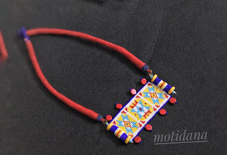 Patwa craft, folk design jewellery, tribal beadwork