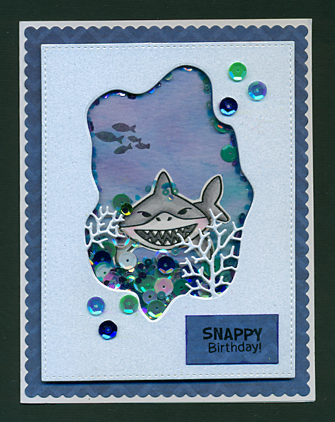 Snappy Birthday by Margo features Shark Bites by Newton's Nook Designs; #newtonsnook