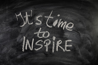 Time to inspire on chalkboard