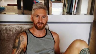 ظهور غير مألوف لنجم برشلونة الأسباني ليونيل ميسي
