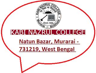 Kabi Nazrul College, Natun Bazar, Murarai - 731219, West Bengal