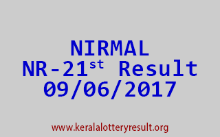 NIRMAL Lottery NR 21 Results 9-6-2017