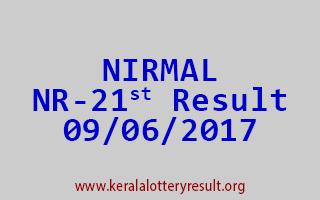 NIRMAL Lottery NR 21 Results 9-6-2017
