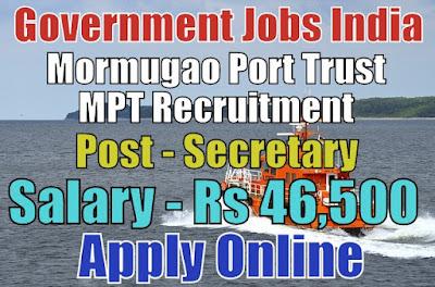 Mormugao Port Trust MPT Recruitment 2018 Goa