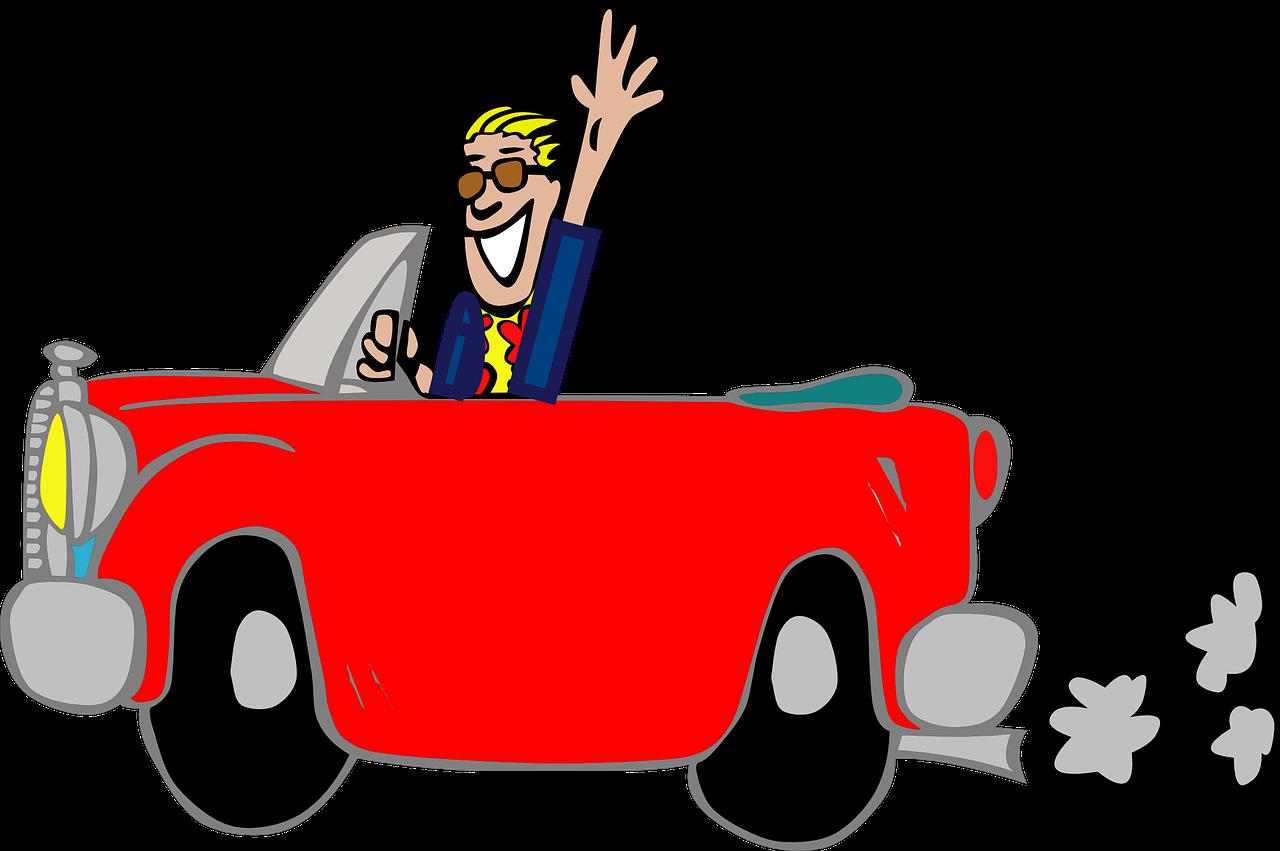 Cartoon Red Cars Crash