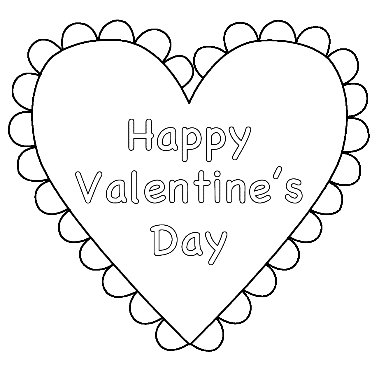 Early Play Templates Valentine S Day Colouring Pages