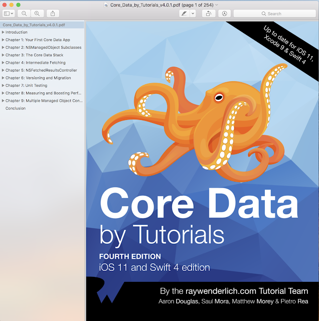 Core Data By Tutorials Fourth Edition with swift 4