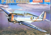 Galerie photos du Curtiss H-75A Hawk d'Academy au 1/48.