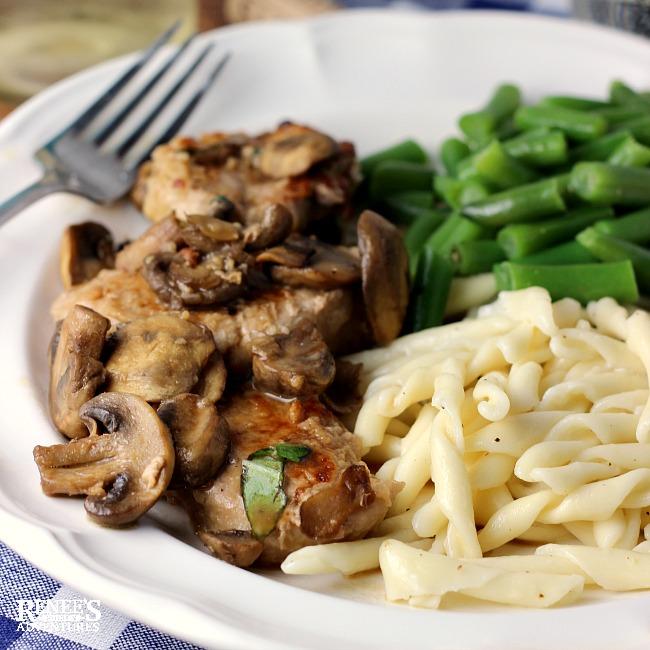 Easy Pork Tenderloin Marsala plated