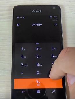 Code secret Microsoft Lumia 650 windows 10 - code sim lock