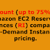 Discount (up to 75%) On Amazon EC2 Reserved Instances (RI) compared to On-Demand Instances pricing.