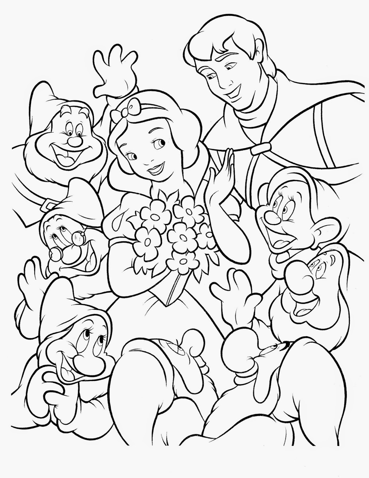 Fun Amp Learn Free Worksheets For Kid Disney Snow White Coloring Pages