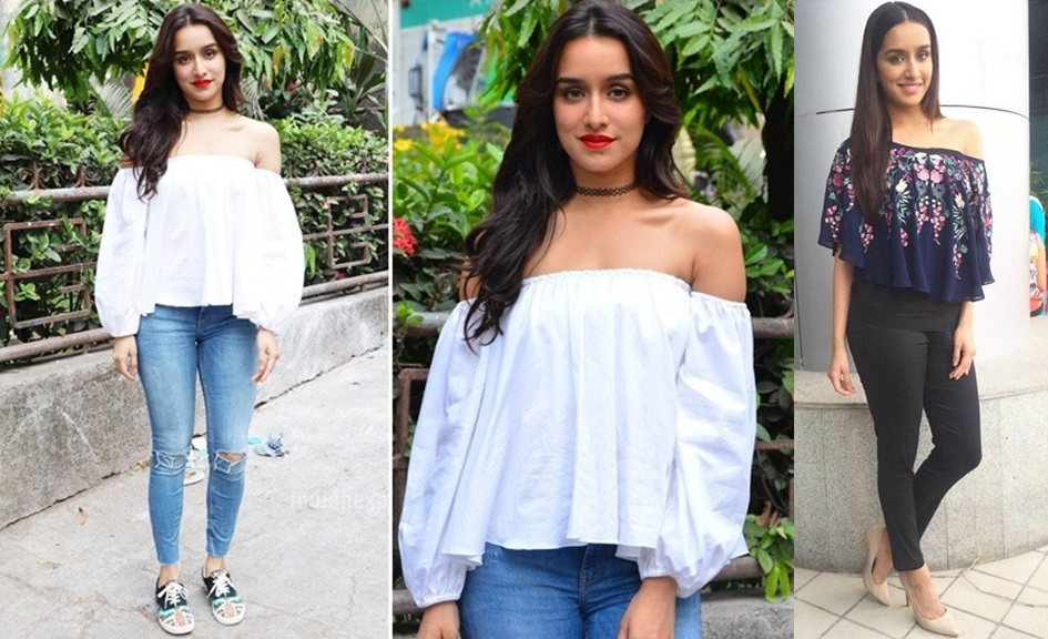 94fca40f118b7d You can team up your off shoulder crop top with a calf length skirt just  like a Deepika Padukone. She also pair up off shoulder top with different  bottoms.
