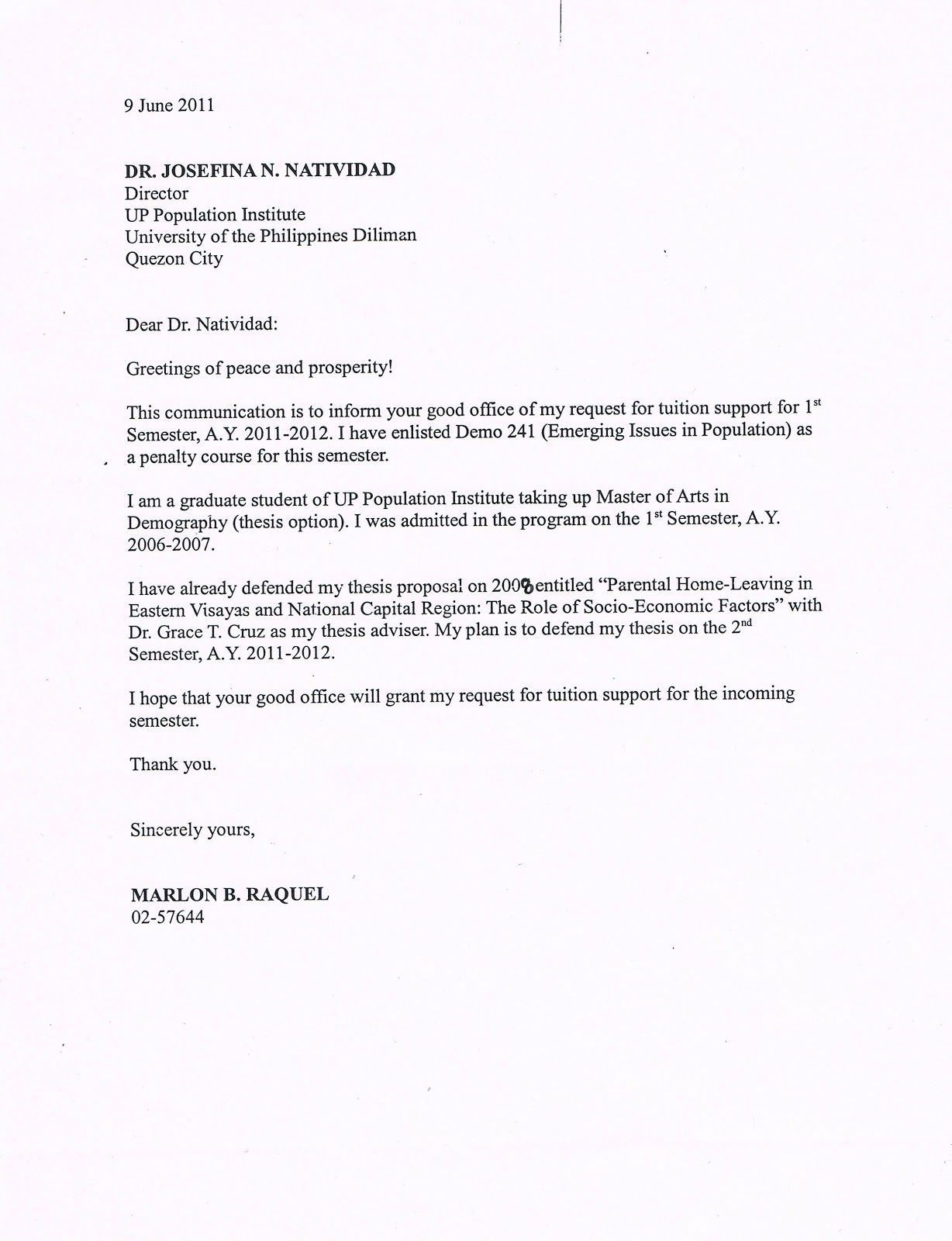 Sample Letter Of Reconsideration For University Admission