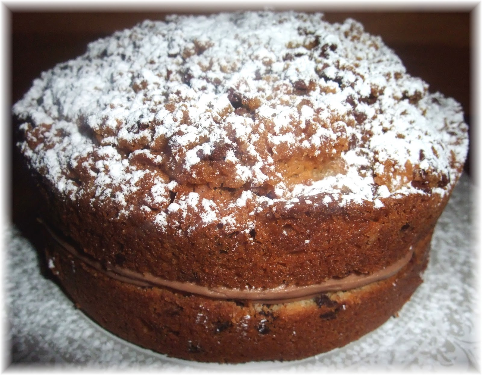Chocolate Cake With Crumb Topping