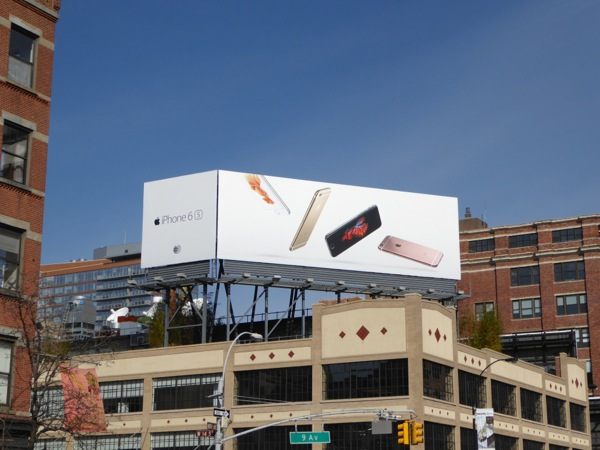 iPhone 6s billboard Meatpacking District NYC