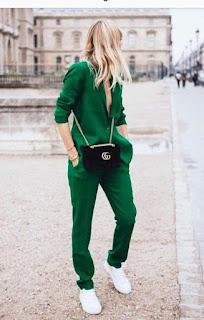 Imágenes Tendencias Moda Mujer Instagram Primavera Verano Total look verde
