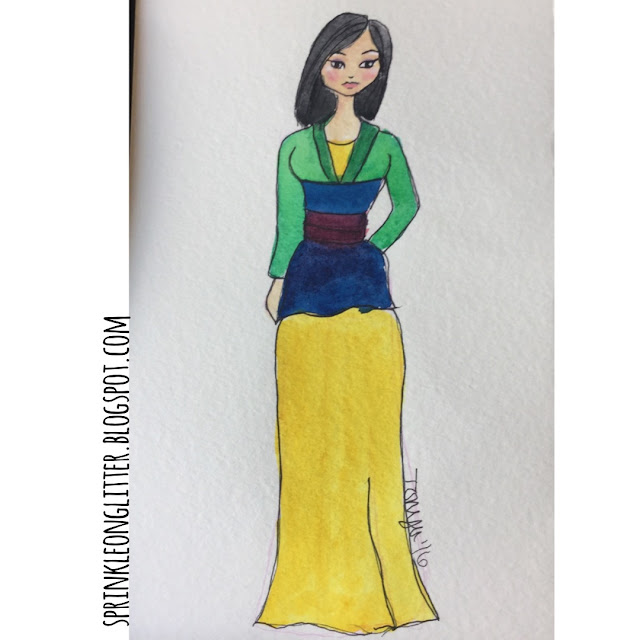 Sprinkle On Glitter Blog// Disney Princess//Mulan