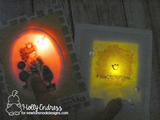 Princess and Frog light up cards by Holly Endress | Once Upon a Princess Stamp Set by Newton's Nook Designs with Chibitronics lights | #newtonsnook #chibitronics