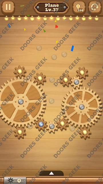 Fix it: Gear Puzzle [Plane] Level 37 Solution, Cheats, Walkthrough for Android, iPhone, iPad and iPod