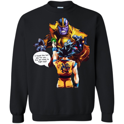 Goku Vs Thanos Sweatshirt Sweater, goku vs thanos death battle, death battle goku vs thanos