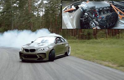 Kι όμως προσαρμόσανε μηχανή ελικοπτέρου πάνω σε μία BMW