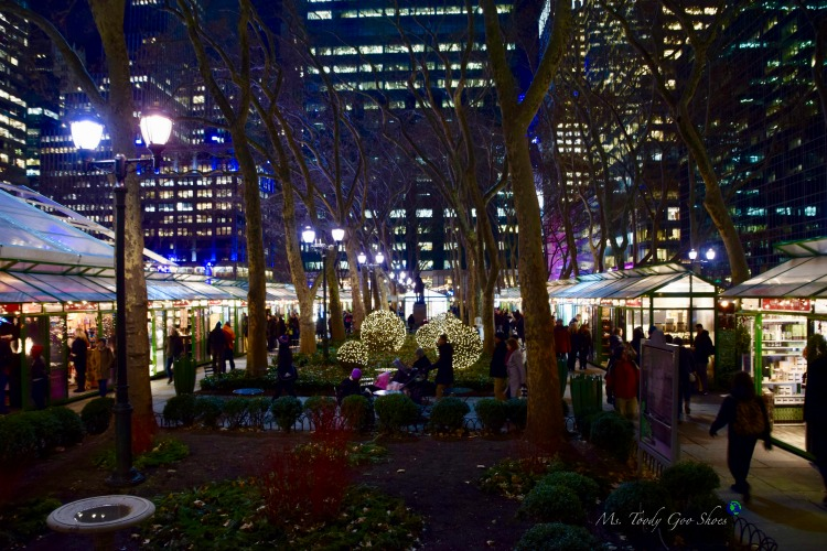 Bryant Park Holiday Market  - One of 10 Must- See Holiday Sights in Midtown, New York City | Ms. Toody Goo Shoes