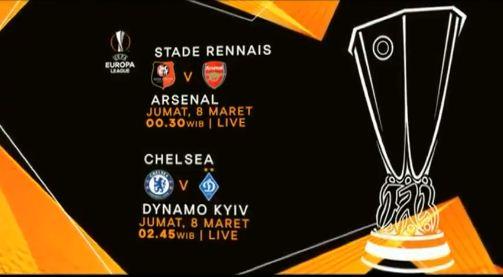 Jadwal Liga Europa Arsenal dan Chelsea, Siaran Langsung RCTI