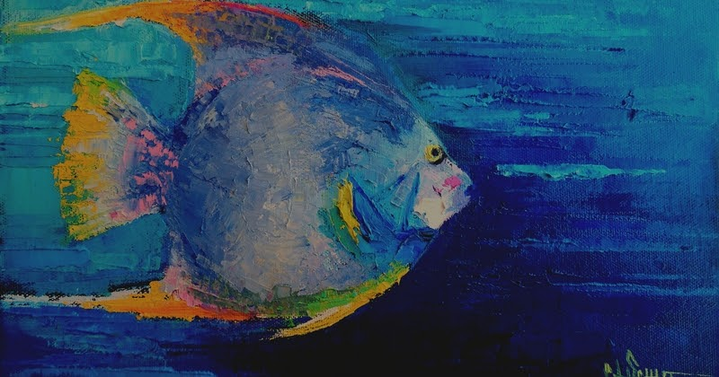 CAROL SCHIFF DAILY PAINTING STUDIO: Tropical Fish Painting, Palette Knife Painting, Daily ...