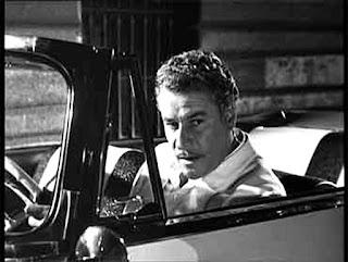Amedeo Nazzari in a scene from the 1950s film by Federico Fellini, Nights of Cabiria