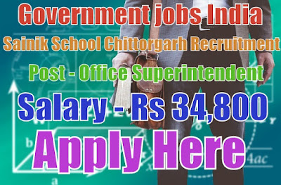 Sainik School Chittorgarh Recruitment 2017