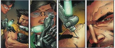Mutant Wolverine dostava injekci s lekem na zmutovany gen