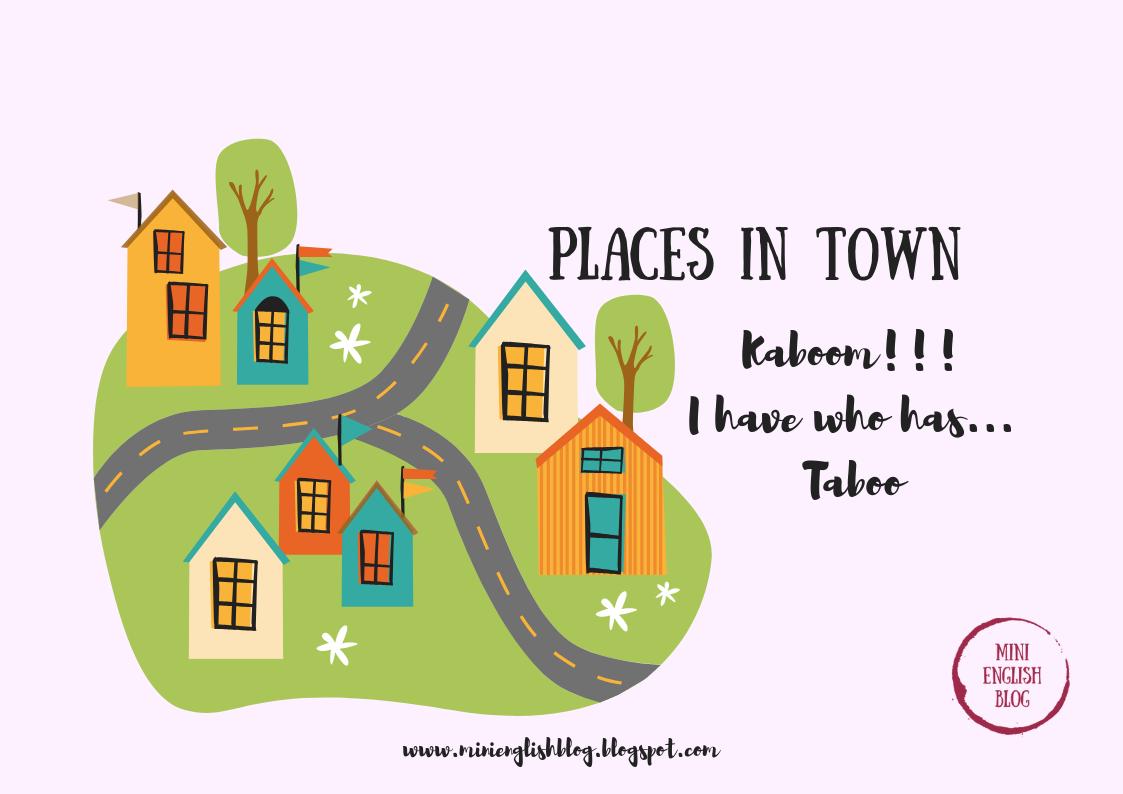Places in town. 3 gry. Wersja angielska i niemiecka