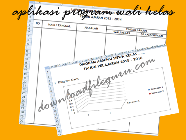 Download Aplikasi Contoh Program Wali Kelas Format Excel (Free)