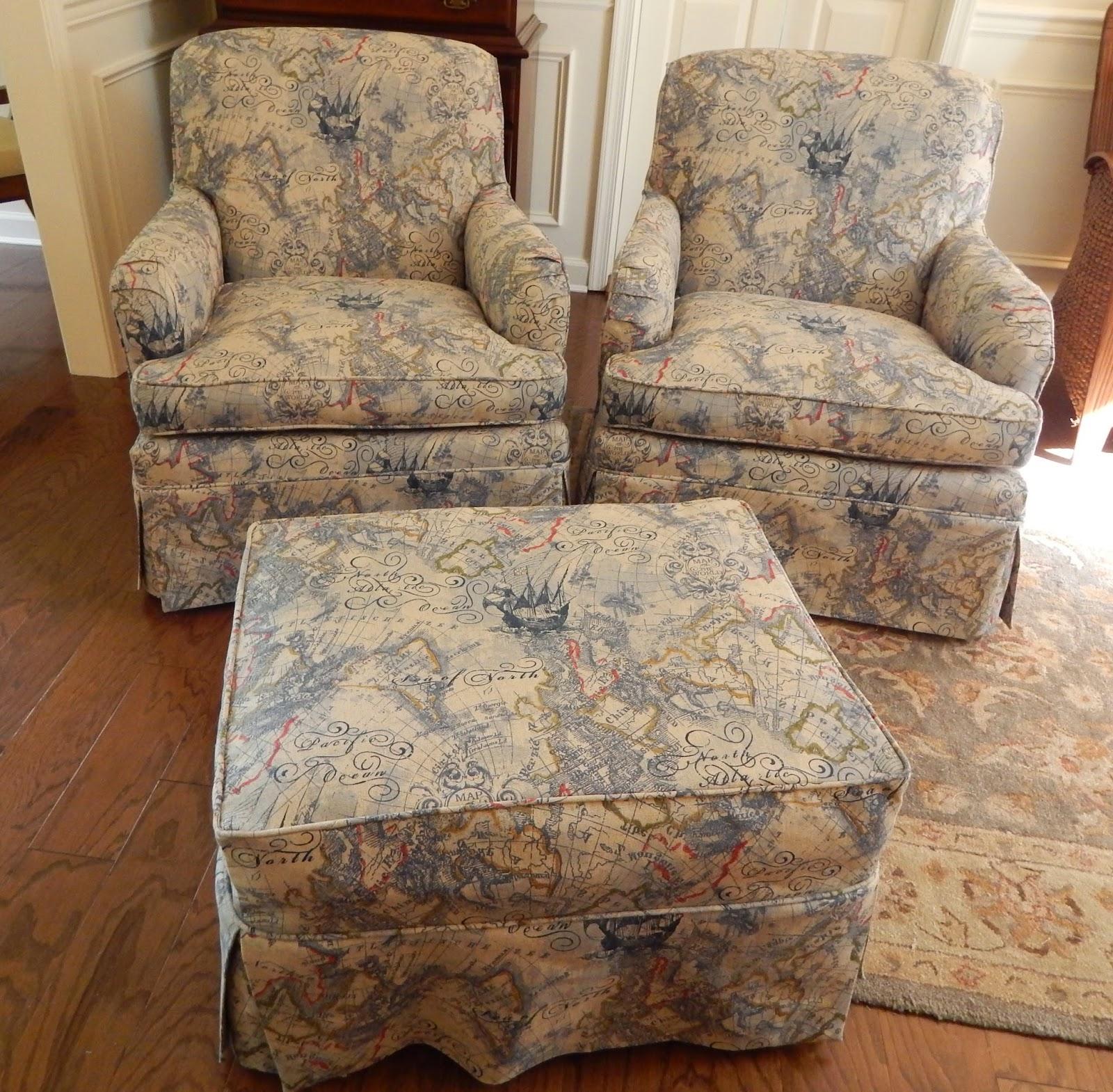 club chair slipcover racing desk pam morris sews nautical chairs